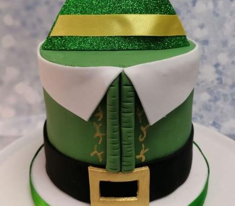 Santas Elf Christmas Sponge Cake
